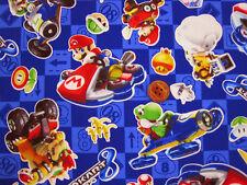 Nintendo Super Mario Brothers Mariokart / Japanese Fabric 100cm x 50cm