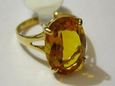New 14k Solid Yellow Gold Y/G Citrine Ring, 10*14mm, Oval, SZ-7, NWT-2
