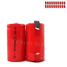 20 x Sub C 1.2V 3400mAh NiMH Rechargeable Battery red