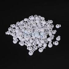 100pcs White Round Ball Cordlock Cord Lock End Stop Toggles Stopper