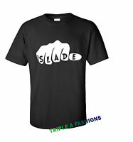 SLADE FIST black T shirt DOPE / MICKEY HAND / rock band