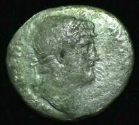 NERO SILVER DENARIUS IMPERIAL ROMAN COIN  - FINE CONDITION
