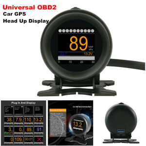 Universal OBD2 Auto Car GPS HUD Head Up Display Overspeed Multifunction System