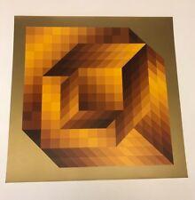 "RARE! Victor Vasarely (1908-1997) ""AXO-44"" Original heliogravure on paper"
