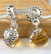 European Silver Charm Bead Fit sterling 925 Necklace Bracelet Chain US hot kk54