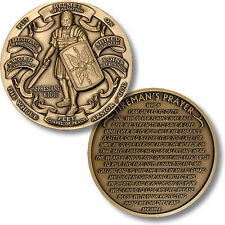 Armor of God  - High Relief  - Fireman's Prayer Challenge Coin Ephesians 6:10-12