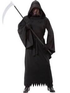 Adult Grim Reaper Phantom of Darkness Costume Mens Halloween Horror Robe Outfit