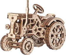Wooden City® TRACTOR, Wooden Mechanical Models, zur Selbstmontage, Gummimotor!