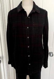 ESSENTIEL Antwerp Pre-Loved tartan shirt size UK8