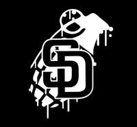 San Diego SD Grenade car Decal Sticker [ for truck rv van bike moto windows]