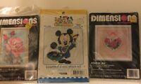 Disney Babies & Dimensions Cross Stitch Kit Lot #32006 7151 6644