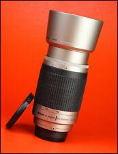 Nikon AF 70-300mm F4-5.6 G Af Lente Zoom Telefoto + Frente Y Parte Trasera Lente Tapas & Capucha