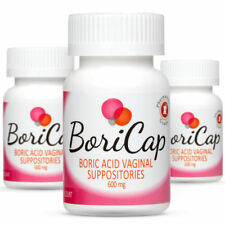 BoriCap Boric Acid Vaginal Suppositories - Yeast Infection BV Treatment 84 Caps