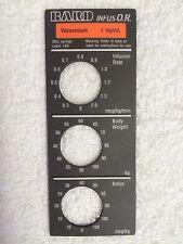 Baxter Bard Infus O.R. Smart Label, Vecuronium, Label: L04