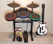 Nintendo Wii/Wii-U Guitar Hero World Tour Band DRUM KIT Set - Guitar - UPGRADED+