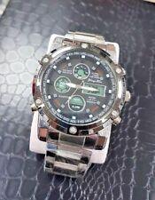 Orologio Polso B42 Uomo Dual Time Analogico Digitale Sveglia Cronografo lac