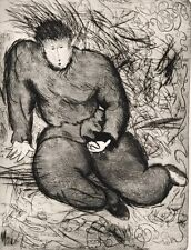 LARGE BEAUTIFUL SANDRO CHIA 1981 ETCHING  SIGNED IN PENCIL AND NUMBERED