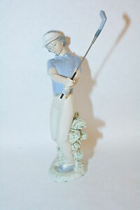 """Nao by Lladro """"fore"""" Golf Figurine 1985"""
