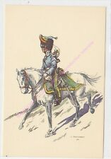 CP MILITARIA J DEMART Costumes Militaires 1er chasseur à cheval trompette 1933