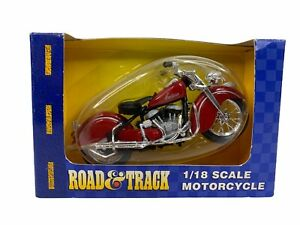 Road and Track Indian Red Motorcycle 1:18 Red #31026