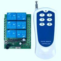12V Interrupteur de Télécommande Sans Fil Rf 6 Canaux et Émetteur-Récepteur L6D2