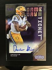 Derrius Guice 2018 Contenders FOIL Game Day Ticket 13/25 Auto Signed Rookie