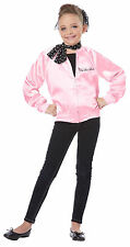 Pink Ladies Jacket & Cire' Pants Child Size 3 Pc Pink Satin Jacket Pts & Scarf S