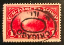 US Q12 $1 Parcel Post, Used,  CV=$45.00