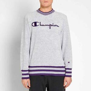 Champion Crewneck Sweatshirt Men's Gray Activewear Sportswear Casual Crew Top
