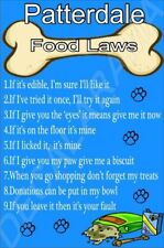PATTERDALE FOOD LAWS Novelty Laminated Sign - Ideal Gift/Present