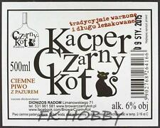 Poland Brewery Dionizos Czarny Kot  Beer Label Microbrewery Cat Katze di4.4s