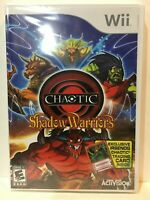 Chaotic Shadow Warriors WITH RARE IRSENOG TRADING CARD Nintendo wii