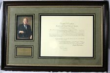 Dwight D. Eisenhower - Document Signed as President; DS, Signature, Autograph