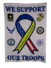 """29x40 We Support Our Troops Military Defenders of Freedom Vertical Flag 29""""x40"""""""