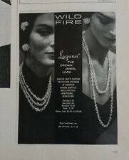 1960 Laguna necklace earrings Crown Jewel look jewelry wild fire ad