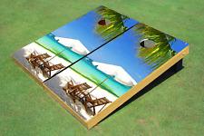Beach Chairs #5 Custom Cornhole Board Bag Toss Set