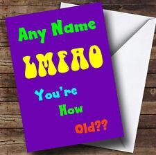 Lmao Funny Personalised Birthday Greetings Card
