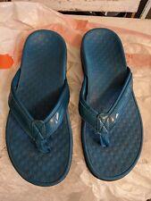 Vionic Womens 8 Tide Sport Patent Leather Sandal Teal  Flip Flop