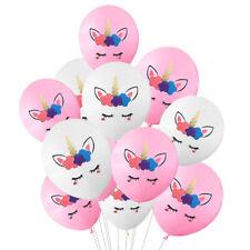 10 pcs Unicorn Balloons Latex Balloon Birthday Party Decor Children Party Supply