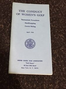 RARE Vintage 1964 The Conduct of Women's Golf Booklet Pamphlet USGA Rules USA