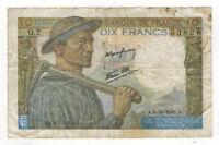 1941 France 10 Francs P99b Circ