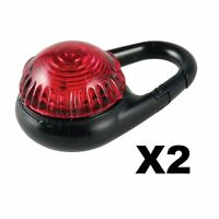 2-Pack Adventure Lights Guardian Tag-It White Carabiner Clip Safety Light