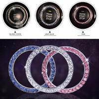 Car SUV Decorative Silver Accessories Button Start Switch Diamond Ring Universal