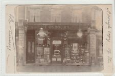 Postcard of F Osbourn shop front Rosemary Road Clacton-on-Sea Essex