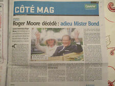 JOURNAL DU DECES DE : ROGER MOORE 24/05/2017 - JAMES BOND - LE SAINT - AMICALEME