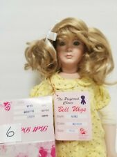 """Bell Doll Wigs #6 Nikki Blonde 13-14"""" new in box"""