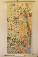 Wall Map Life Jesus in the Saints Country New Testament 23 3/16x47 5/8in ~ 1960