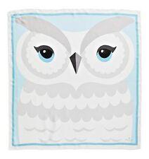 Authentic Kate Spade Owl 100 Silk Square Scarf in Cream Multi