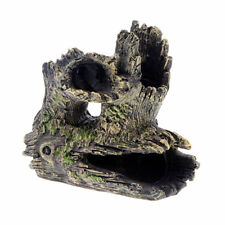 Aquarium Ornament Hollow Hole Log Tree Tunnel Cave Fish Tank Decoration New
