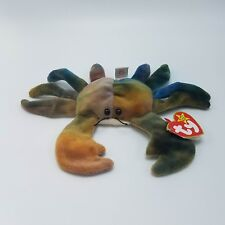 TY BEANIE BABIES CLAUDE THE CRAB RARE Tie Dye Retired With Tag Errors